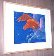 篠崎正喜のペガサスのアクリル画